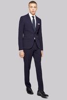 Moss Bros Skinny Fit Navy Seersucker Suit