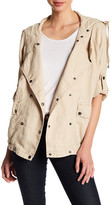 Three Dots Darla Hooded Linen Jacket