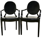 Dymas Armed Ghost Chairs (Set of 2)