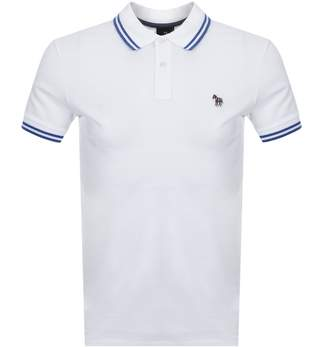 Paul Smith Slim Fit Zebra Polo T Shirt White