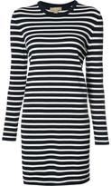 Michael Kors longsleeved striped dress - women - Cotton - M