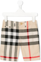 Burberry checkered shorts - kids - Cotton - 7 yrs