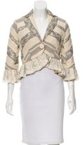 Robert Rodriguez Lace-Accented Pattered Blazer