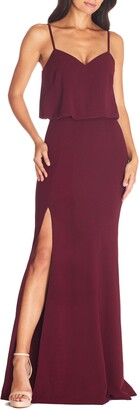 Dress the Population Gracelyn Blouson Jersey Gown