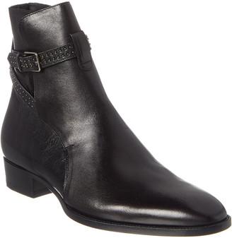 Saint Laurent Wyatt 30 Stud Leather Boot