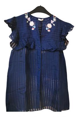 Vilshenko Blue Cotton Tops
