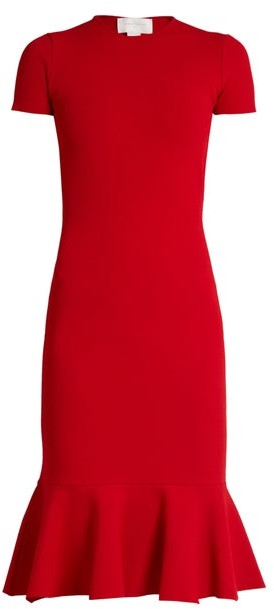 Esteban Cortazar Cut Out Back Crepe Jersey Dress - Womens - Red