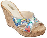 GUESS Eleonora Cork Platform Wedge Sandals