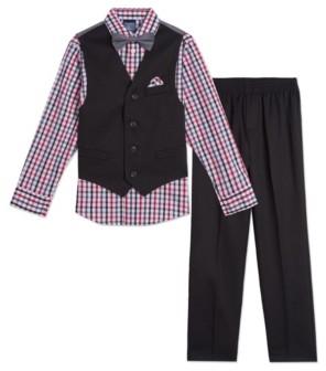 Nautica Toddler Boys Solid Textured 4 Piece Vest Set
