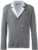 Cruciani double-breasted knit blazer
