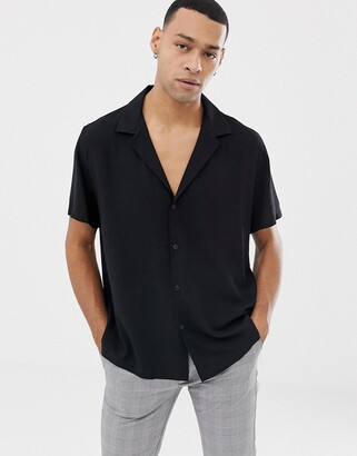 Asos DESIGN relaxed deep revere shirt