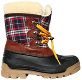 DSQUARED2 Faux Shearling & Plaid Snow Boots