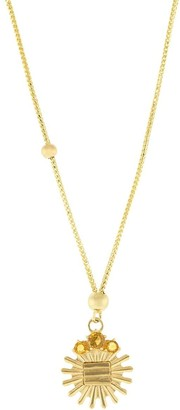 Foundrae 18kt yellow gold Metal element dotted citrine choker