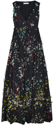 Chloé Gathered Fil Coupe Silk-georgette Gown