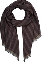 Colombo MEN'S STRIPED CASHMERE-SILK VOILE SCARF