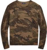 Ralph Lauren Camo Aran-Knit Wool Sweater