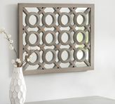 Pottery Barn Gray Wash Lattice Mirror