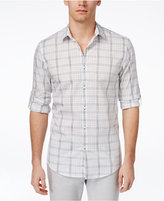 Alfani Men's Plaid Slim-Fit Long-Sleeve Shirt, Only at Macy's
