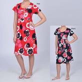 La Cera Other Women's Floral Button-front Short-sleeve Dress