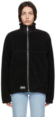Saintwoods Black Sherpa Lightning Zip Sweater
