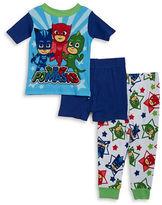 AME Sleepwear Little Boys PJ Masks Tee, Shorts and Pants Pajama Set