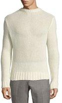 Ralph Lauren Air-Spun Seed-Stitch Cashmere Sweater, Cream