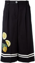 Dolce & Gabbana fruit embellished culottes - women - Cotton/Polyester/Spandex/Elastane/glass - 40