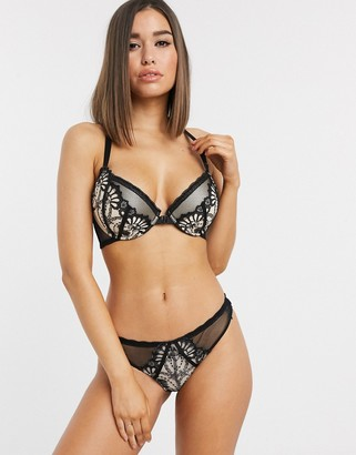 ASOS DESIGN Fuller Bust Brielle underwire racer back bra with embroidered lace & front fastening