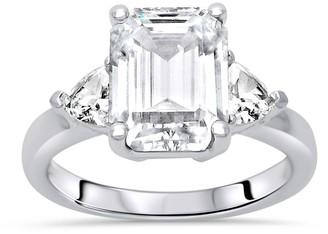 Tw 0.89 Ct Emerald Cut Sapphire Single-Stone 14K Yellow Gold Ring