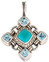 David Yurman Diamond, Turquoise & Topaz Renaissance Enhancer Pendant