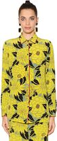 Etro Boy Fit Floral Silk Crepe De Chine Shirt