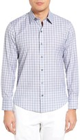 Zachary Prell Men's Cristiano Trim Fit Plaid Sport Shirt