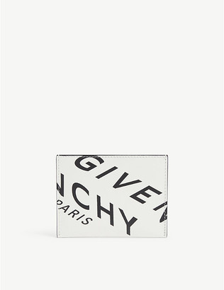 Givenchy Refracted logo-print leather card holder