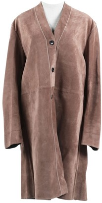 Marni Pink Leather Coat for Women