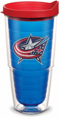 Tervis 1087489 NHL Columbus Blue Jackets Primary Logo Tumbler with Emblem and Red Lid 24oz