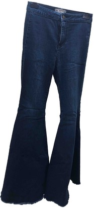 Free People Blue Cotton Jeans