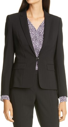 HUGO BOSS Jaflink Stretch Wool Suit Jacket