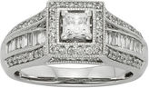 JCPenney MODERN BRIDE 1 CT. T.W. Diamond 10K White Gold Princess-Cut Milgrain Bridal Ring
