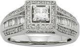 JCPenney MODERN BRIDE 1 CT. T.W. Diamond 10K White Gold Princess-Cut Milgrain Bridal Ring