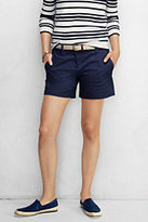 "Classic Women's Petite Not-Too-Low Rise 5"" Chino Shorts-Champagne Marin Botanical,26W"
