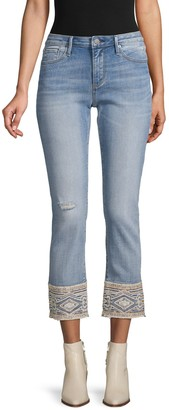 Driftwood Distressed Cropped Jeans