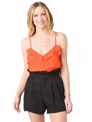 Cupcakes And Cashmere Women's Emery Dot Ruffle Cami