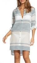 Vix Ada Striped Cover-Up Shirt Dress