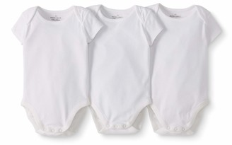 Moon and Back by Hanna Andersson Baby 3-Pack Organic Cotton Short Sleeve Bodysuit
