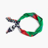 J.Crew Italian silk square scarf in Ratti® striped floral