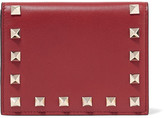 Valentino The Rockstud Leather Wallet - Claret