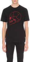 The Kooples Embroidered Skull Cotton-jersey T-shirt