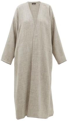 eskandar Collarless A-line Alpaca-blend Coat - Womens - Light Grey
