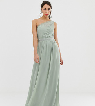Little Mistress Tall one shoulder maxi dress