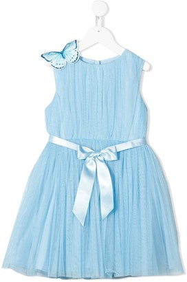 Charabia Butterfly Applique Tulle Dress